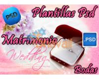 Plantillas PSD Photoshop para Bodas Wedding Templates Editables