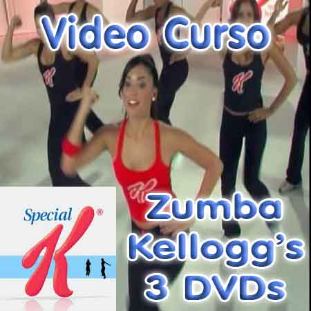 ZUMBA KELLOGS VIDEO CURSO CARDIO CINTURA ABDOMEN PIERNAS