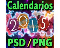 CALENDARIOS 2015 PSD PNG PHOTOSHOP PARA IMPRIMIR EDITABLES