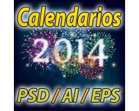 CALENDARIOS 2014 PSD PNG AI EPS PHOTOSHOP PARA IMPRIMIR EDITABLE