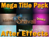 Mega Title Pack After Effects 100 en 1